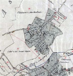 Church End on the inclosure map of about 1799 [MA75]